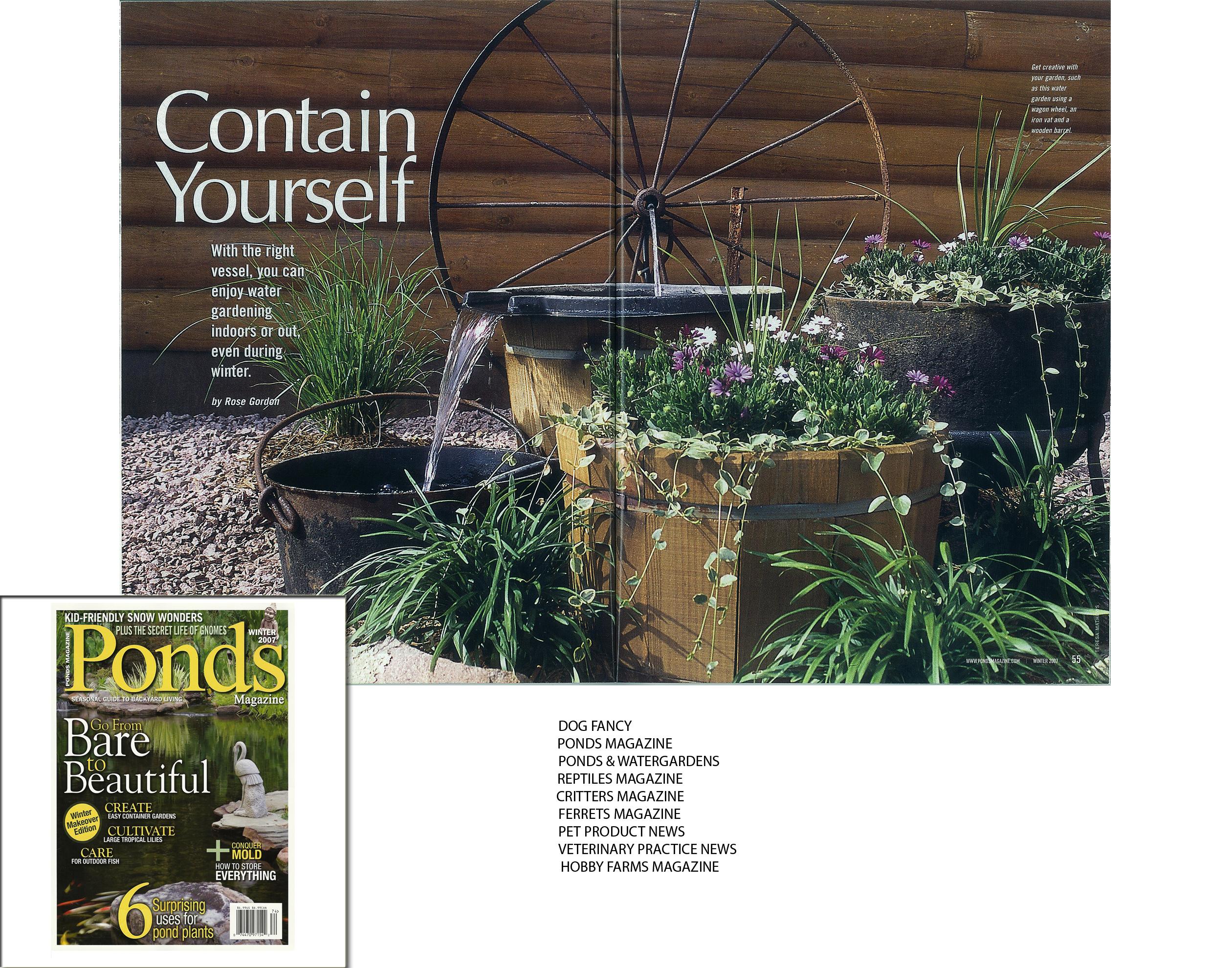 Ponds Magazine 2-page spread