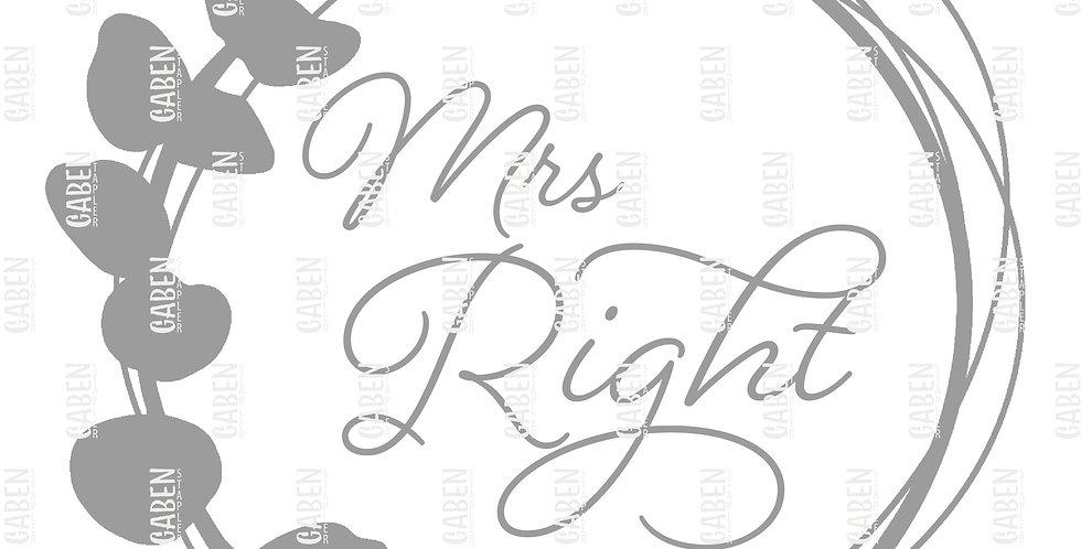 "Textil Plot ""Mrs Right"""