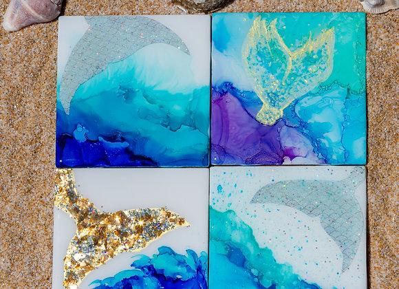 1 set of Mermaid Coasters