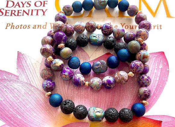 Jewel Tone Zen stackable bracelets