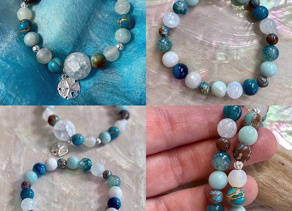 Ocean Inspired Double Strand bracelet