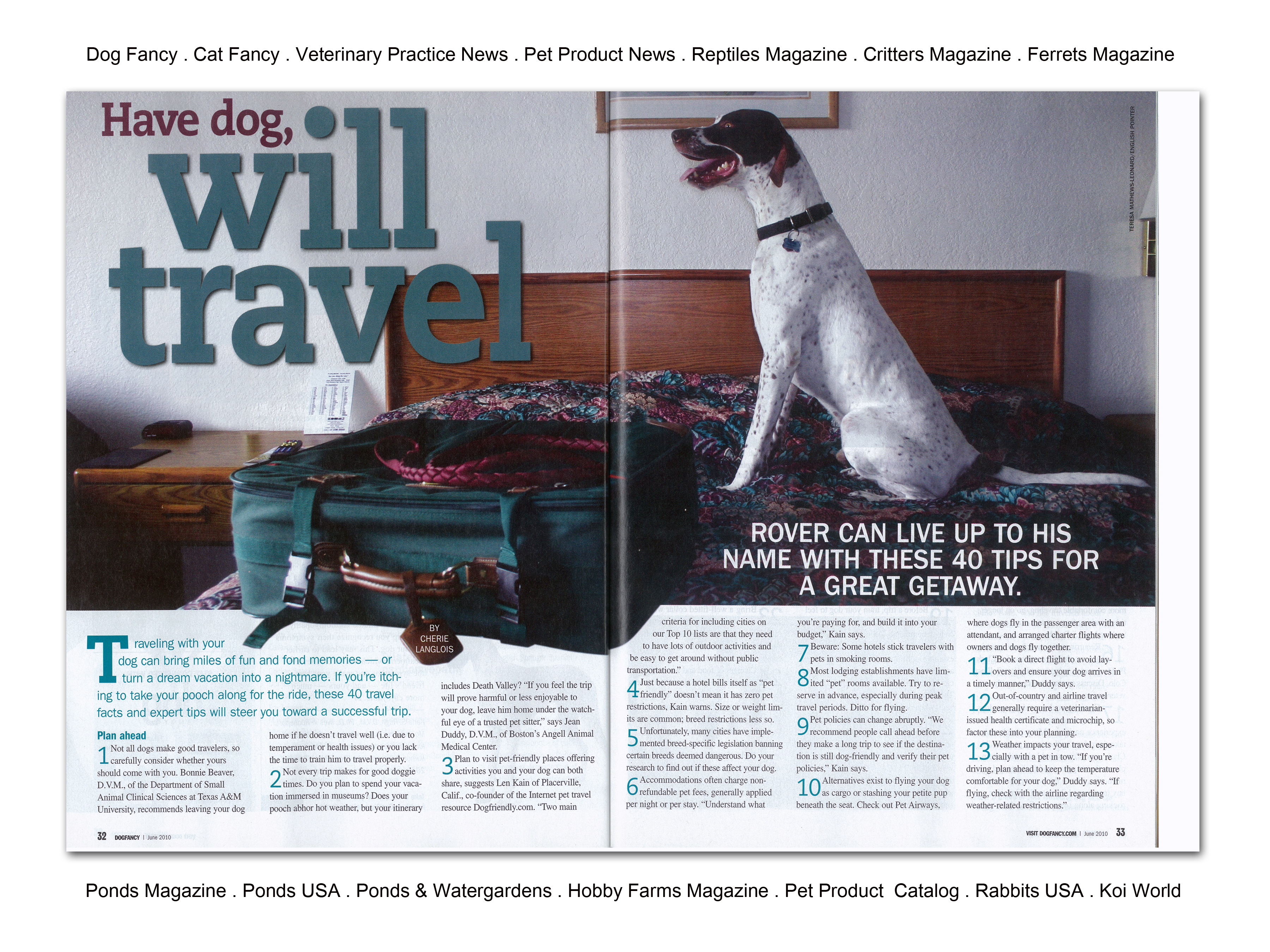 Dog Fancy 2-page spread