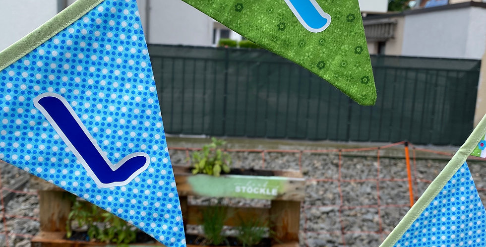 Textil-Plot Wimpelbuchstaben Stk.14-21