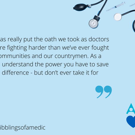 An Interview with a Doctor: @scribblingsofamedic