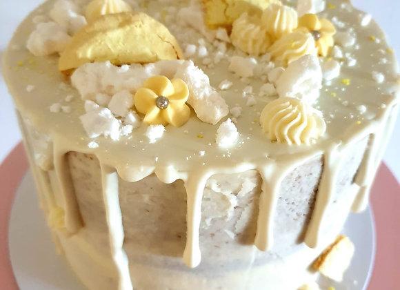 Semi naked lemon drip cake
