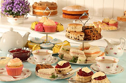 BRITISH AFTERNOON TEA ,SCONES AND CAKES