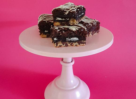 Triple loaded brownie