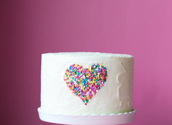 Sprinkle love cake