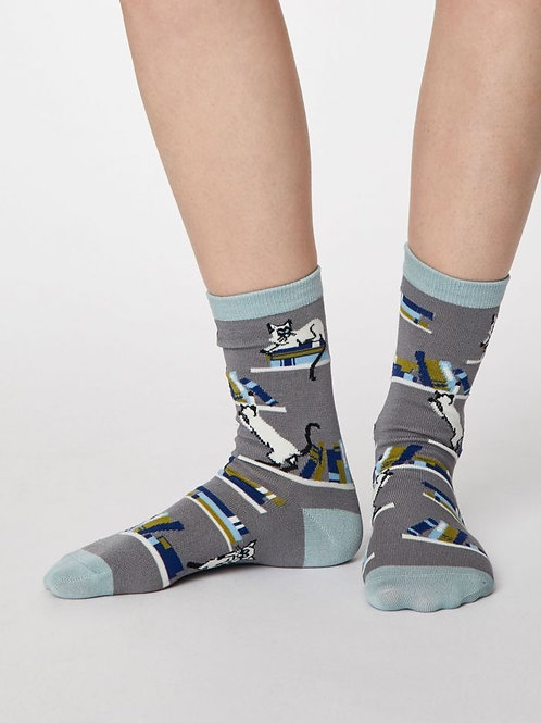 Thought Bamboo Cat Socks