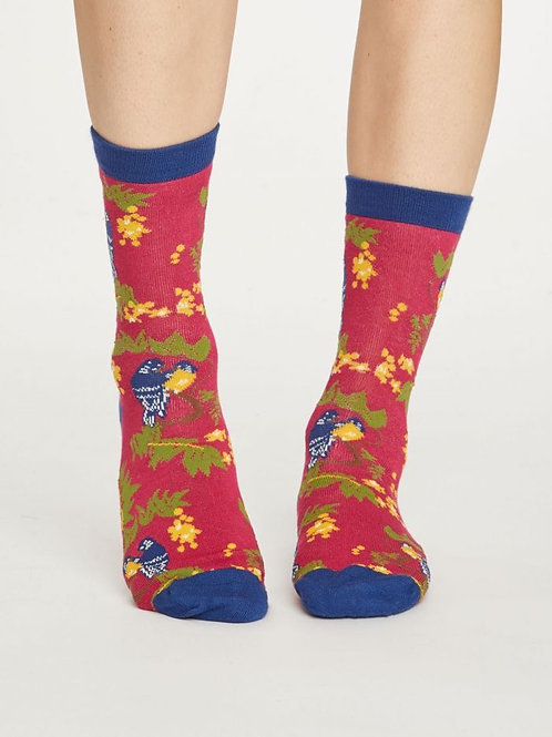 Thought Bamboo Bird Socks