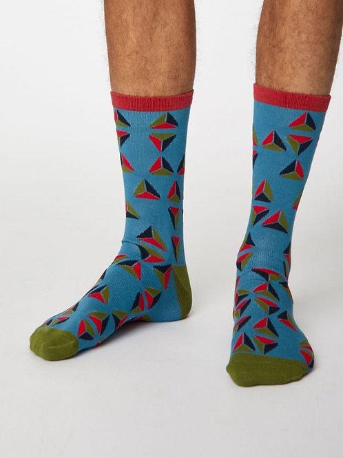 Thought Bamboo Geometric Socks
