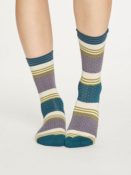 Thought Bamboo Dotty Stripe Socks