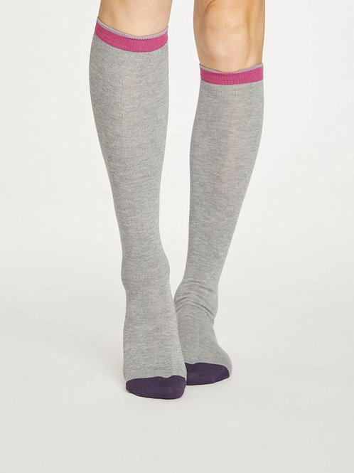 Thought Bamboo Colour Block Knee Socks