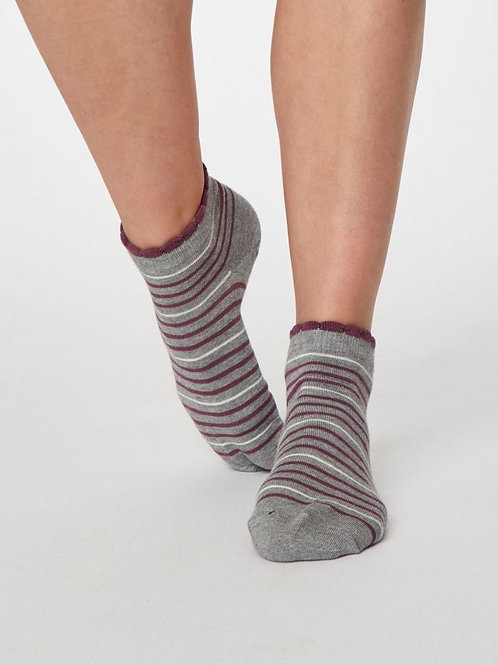 Thought Bamboo Stripey Ankle Socks