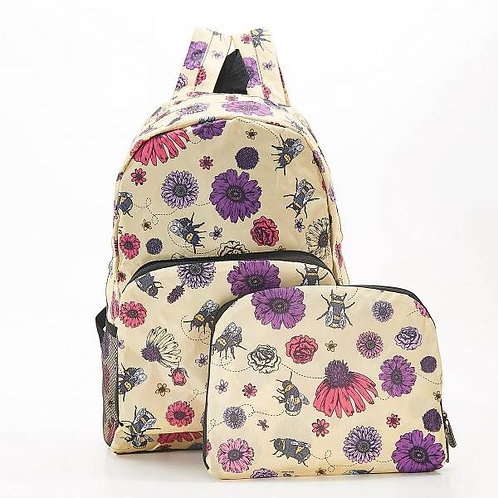 Eco Chic Bees & Flowers Backpack