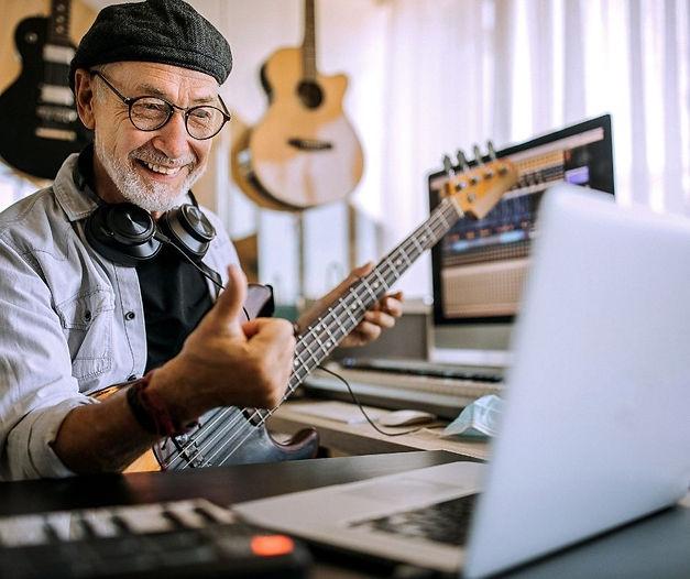 Music Teacher taking online music class