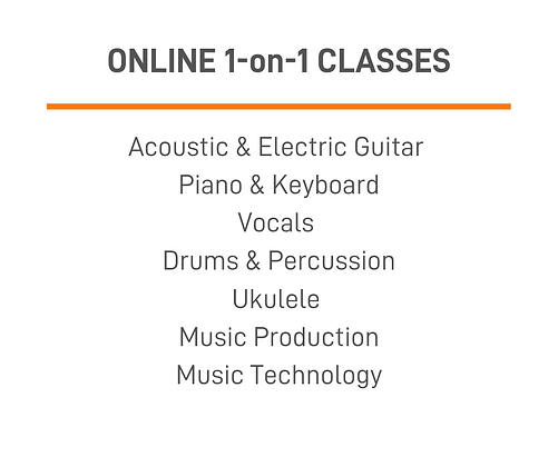 1-on-1 Online Music Classes