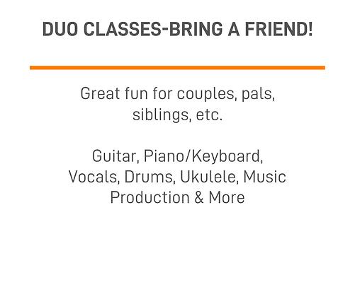 Duo Classes - Bring a Friend