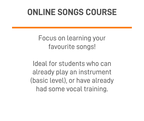 1-on-1 Online Songs Course