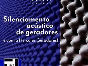 Silenciamento acústico de geradores é com a Hercules Geradores!