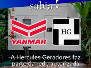 Você sabia que a Hercules Geradores é autorizada da Yanmar?