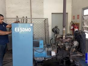 Manutenção preventiva de gerador SDMO em Votorantim