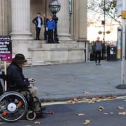 Protesting man - Trafalgar Square, London