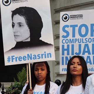 Girls from London protesting for women in Iran