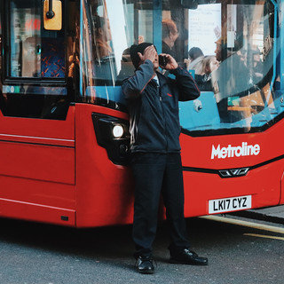Bus driver at Oxford street, London