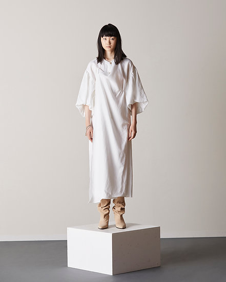 Linen drape midi dress