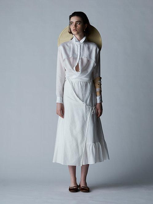 Storm flap & tie waist shirt