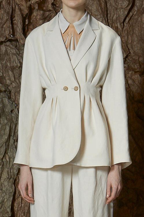 Double Tailored Tuck Jacket