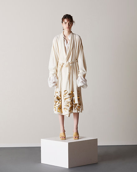 Gold leaf transparent cardi-coat