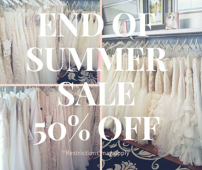 End of Summer SALE - 50% OFF In-Stock Designer last wedding gowns