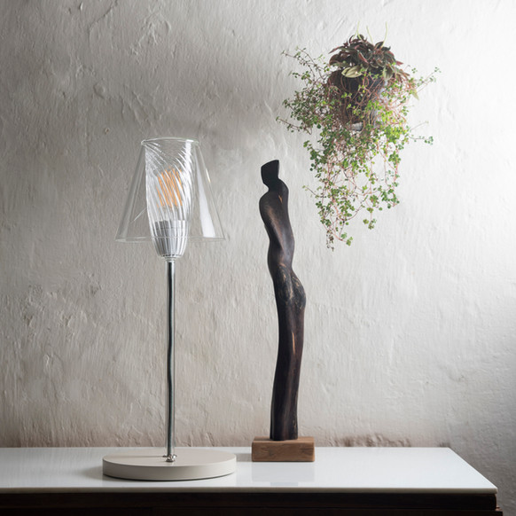Lampe socle blanc