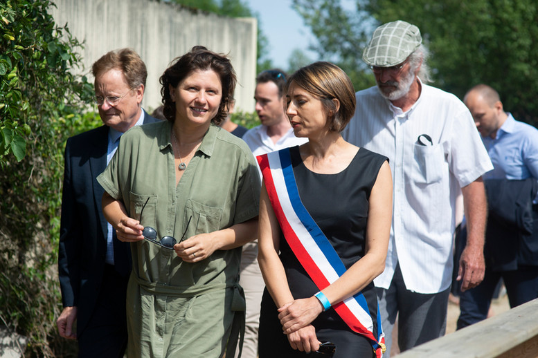 Roxana Maracineanu et Catherine Guinement