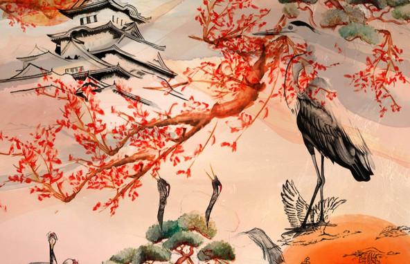 East Asian Repeat Wallpaper