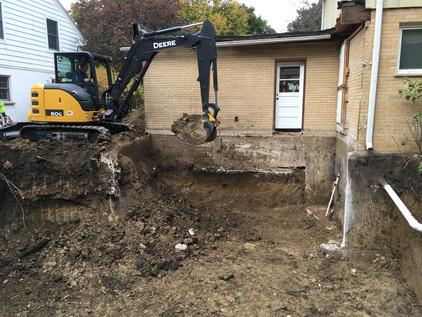Room Addition Excavation