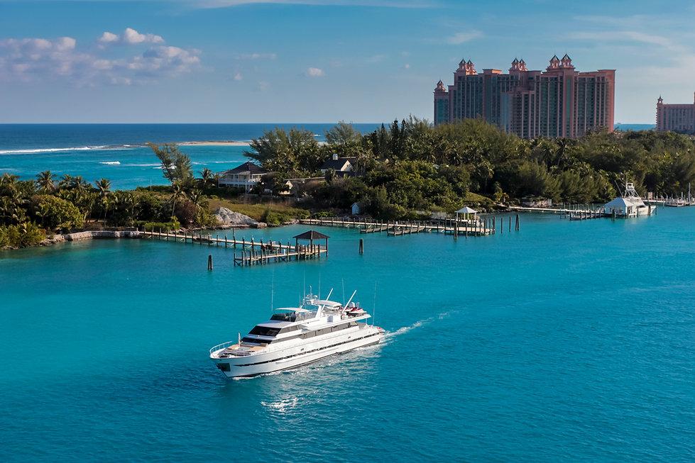cruise ship in water