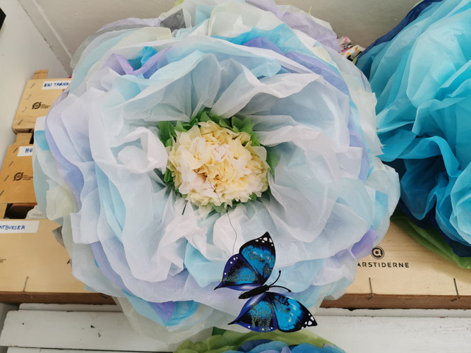 Crepe paper flower July 2019