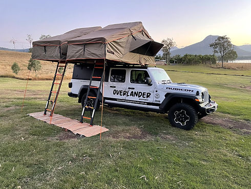 Jeep Gladiator with Twin Roof Top Tents 4wd rental