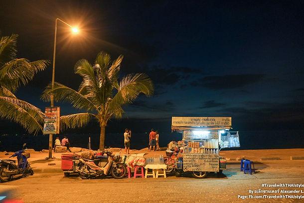 Bangsaen 沙灘的日與夜 Day & night along Bangsaen Beach