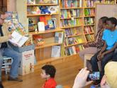 Reading at Blue Manatee Children's Bookstore