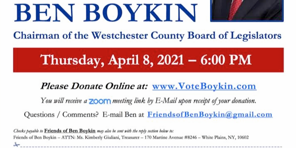 Fundraiser for Hon. Ben Boykin