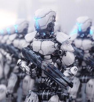 銃を持つロボット