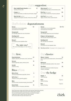 The chick - menu redesign