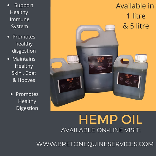 Breton Equine Hemp Oil 5 litres