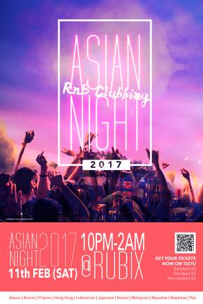Surrey ABACUS Society Asian Night Poster