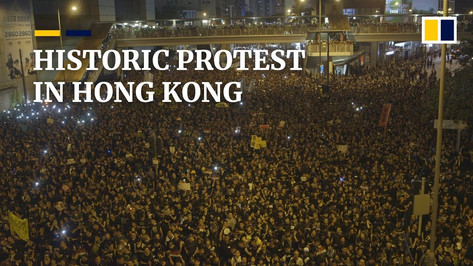 SCMP - Historic Protest in Hong Kong