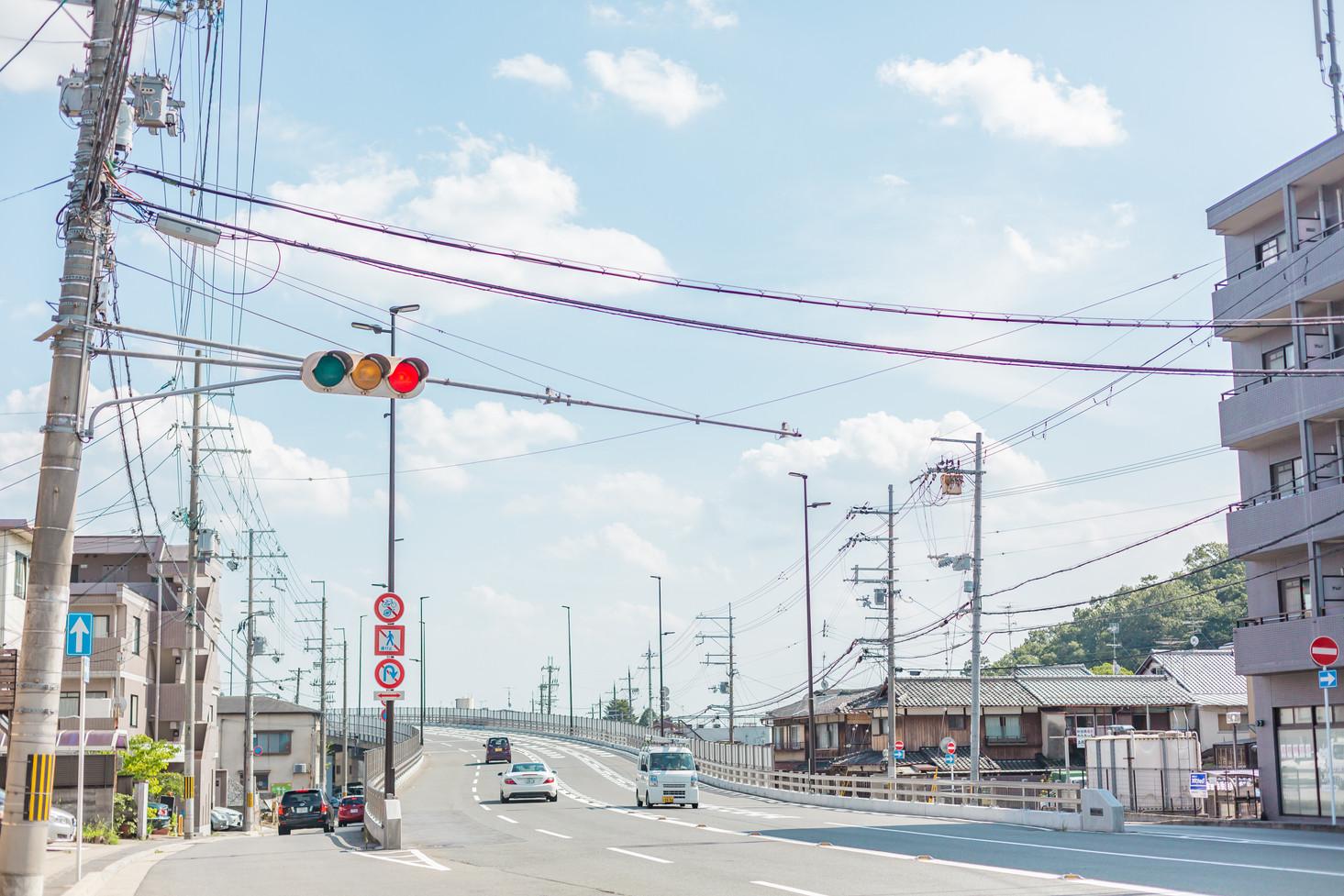 Crossroad at Takaragaike, Kyoto